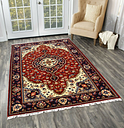 Handmade 100% Wool Rug Medallion Carpet Indian Hand Knotted Wool Carpets 4'X6'ft