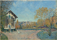 Alfred Sisley - View of Marly-le-Roi from Coeur-Volant 1876 Print 60x80cm