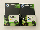 Genuine HP 902XL Color Ink Cartridges Cyan & Yellow Exp 2020