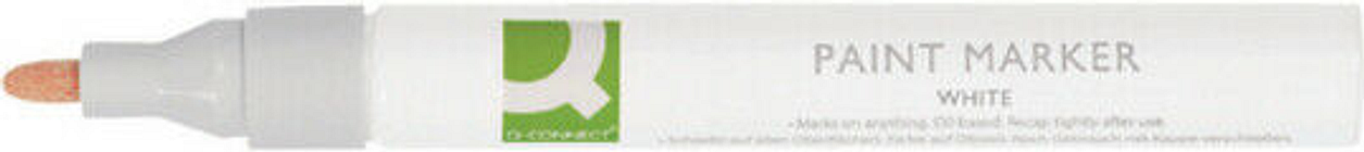 Q-Connect Pack of 10 Medium White Paint Marker Pens - KF14452