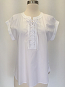 New j.crew lace-up popover in white top blouse sz 2 g3922