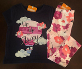 NWT Gymboree Girl Bright Days Ahead Balloon Tee/ Floral Leggings Outfit 2T 4T 5T