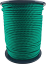 12mm Green Braided Polypropylene Rope x 15 Metres Poly Line Sailing Boating