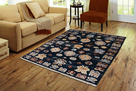 Hand Made Carpet 3'X5' Blue Multi 100% Wool Rug Hand Knotted Bedroom Carpets NEW