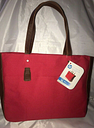 "New HP Laptop 15.6"" Canvas Tote Chili Pepper Red Dual Handles Shoulder Bag"