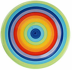 Windhorse Rainbow Striped Ceramic 18cm Side Plate (Small) (1 Plate)
