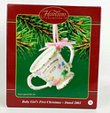 Carlton Cards Baby Girl's First Christmas Cup Ornament 2003