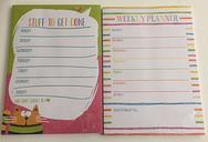 A4 Weekly Planner or Stuff to get Done - Tear Off Planner 52 sheets for a Year