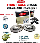 Front Axle BRAKE DISCS + BRAKE PADS SET for RENAULT SCENIC 1.9 dCi 2005->on