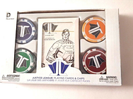 DC Collectibles JUSTICE LEAGUE CARDS & CHIPS Unused