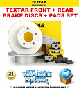 TEXTAR FRONT + REAR DISCS + PADS for BMW 3 Touring F31 335d xDrive 2013-2019