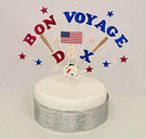 BON-VOYAGE, traveling  Celebration Personalised Cake Topper