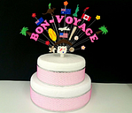 BON-VOYAGE, traveling  personalised celebration  cake topper / cake decoration