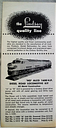 LINDSEY PRODUCTS COMPANY MODEL TRAINS ADVERTISING BROCHURE 1950s VINTAGE