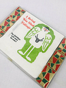 Vintage Christmas Party Set Paper Napkins Matches Match Book Box Humor Angel Lot