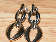 Silver Toned Chained Women's Fashion / Costume Jewelry Earrings **READ**