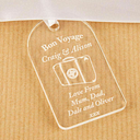 Bon Voyage gift tag, Bon Voyage gift, leaving gift, personalised leaving gifts