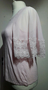 Laura Ashley Pink Sleeveless Top Size 16 UK Sheer Crochet Lace Covered Shoulders