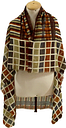 🔥Buy 1 Get 2 Free🔥  CHECK GLITTERED MULTICOLOR SHAWL VISCOSE SCARF 46 In #A79
