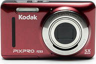 Kodak PixPro FZ53 2.7 Inch Screen Mirrorless Camera With 5.1-25.5mm Lens - Red
