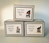 Set of 3 PHBs Porcelain Hinged Boxes - Baltimore Oriole, Nuthatch & Grosbeak