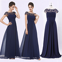 Ever-pretty UK Women Navy Blue A-line Formal Cocktail Prom Evening Dresses 09993