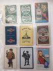 18 Vintage Beer & Alcohol Advertising Lot Single Swap Playing Trading Cards
