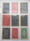 18 Vintage Red Blue Filigree Lot Single Swap Playing Trading Cards Collect