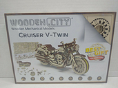Wood Cruiser V-Twin Motorcycle Model Construction Kit