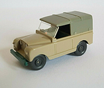 Wiking HO 1:87 Land Rover With Driver and Removable Top