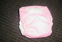 Pink   medium   blueberry all in one cloth diapers