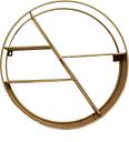Circular Gold Shelf