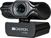 Canyon 2K Quad HD USB Webcam with Integrated Microphone - Black
