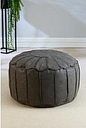 Faux Leather Moroccan Footstool