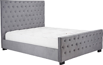 Marquis Grey Velvet Bed