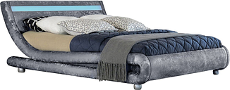 Mallorca Crushed Velvet LED Bed with Mattress