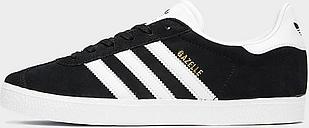 adidas Originals Gazelle II Junior - Black/White - Kids, Black/White