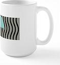 Aqua Umbrella Waves Pastel Mugs