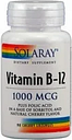 Solaray vitamina B12 1000mcg + Ácido fólico 90comp