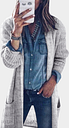 Yoins Grey Cable Knit Long Sleeves Cardigans