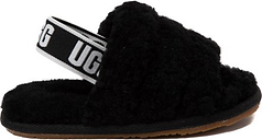 UGG® Fluff Yeah Slide Sandal - Toddler / Little Kid - Black