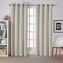 Linen Sateen Curtain Panel Set, 108 in.
