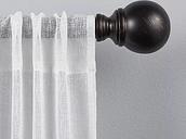 Matte Bronze Sphere Curtain Rod, 120 in.