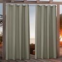 Khaki Nicole Outdoor Curtain Panel Set, 108 in.