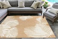 Sand Forest Leaf Indoor/Outdoor Area Rug, 5x8