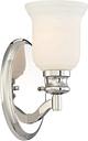 "Minka Lavery Audrey'S Point 5"" Bathroom Vanity Light in Polished Nickel"
