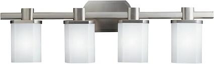 Kichler Lege 4-Light Bathroom Vanity Light in Brushed Nickel