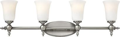 Hinkley Yorktown 4-Light Bathroom Vanity Light in Antique Nickel