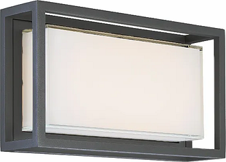 Modern Forms Framed 1-Light Outdoor Wall Light in Bronze