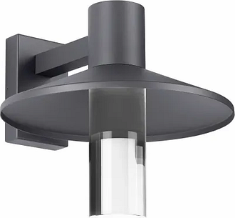 """Tech Ash 12"""" Outdoor Wall Light in Charcoal"""
